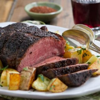 Coffee and Spice Rubbed Sirloin Tip Roast