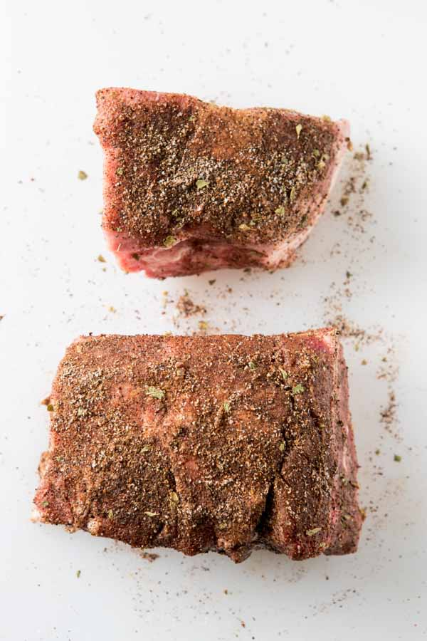 pork with spice rub for shredded pork recipe.